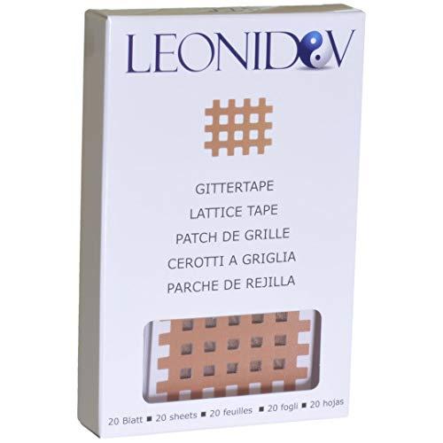 Leonidov Gittertape Typ C - 20 Blatt (40 Pflaster) 4x5 cm