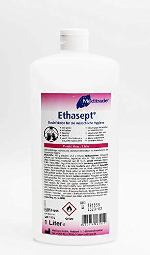 Ethasept® Händedesinfektionsmittel 1 Liter Flasche Desinfektionsmittel für die menschliche Hygiene