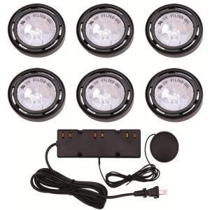 6 Light Black Under Cabinet Xe 1.1'h x 3.54'w x 5. Black by The Home Depot