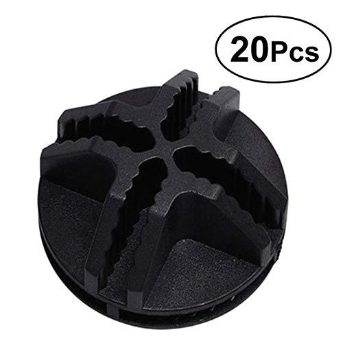 Dasket Conectores de Alambre de Cubo de plástico Negro Cierre de Armario Clips de Hebilla 20 Piezas, Organizador Modular de gabinete de Almacenamiento de Cubo