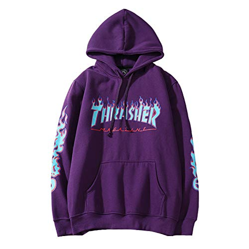 NTOW Herren Mode Farbabstimmung Hip Hop Lässige Slim Fit Drucken Kapuzenpullover Sweatshirt Kapuzenjacke Hoodie Sweatjacke Sweater Pullover