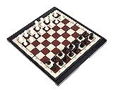 FGUD Conjunto de ajedrez Plegable Juego de ajedrez portátil Juegos de Mesa de ajedrez for familias