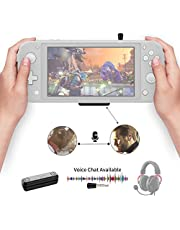 Gulikit Route Air Pro Bluetooth Adapter Compatibel voor Nintendo Switch & Lite, PS4 / PC, Ondersteuning in Game Voice Chat met APTX Low Latency Wireless Audio Transmitter Airpods Draadloze Sprekers