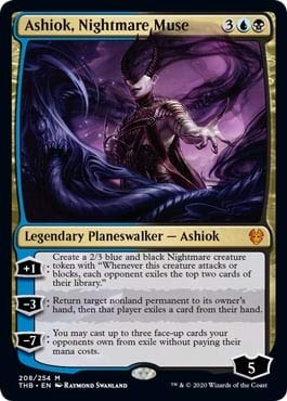 Magic: The Gathering - Ashiok, Nightmare Muse - Foil - Borderless - Theros Beyond Death