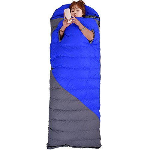 QFFL shuidai Enveloppe Sac de Couchage/Sac de Couchage en Duvet/Splicable / Camping en Plein air randonnée épaissir Sac de Couchage rectangulaire Sac de Compression (2 Couleurs Disponibles)