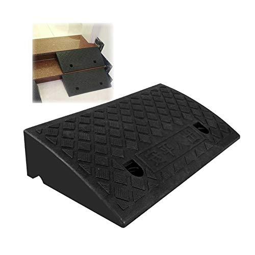 Gummi Rampe Schwellensteigung Schwer Auto Rollstuhl Stufenrampe Druckfestigkeit Spleißbar PVC, 6 Größen Bai Yin (Color : Black, Size : 49X27X13.5CM)