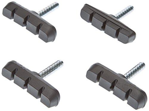 XLC Unisex– Erwachsene Bremsschuhe Cantilever BS-C02 4er Set 55 mm, Schwarz, Einheitsgröße