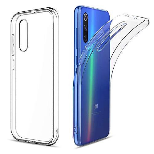 Amonke Schutzhülle Für Xiaomi Mi 9 SE, TPU Silikon Transparent Hülle für Xiaomi Mi 9 SE, Ultra Dünn Silikonhülle Durchsichtig Handyhülle Crystal Hülle für Xiaomi Mi 9 SE