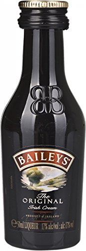 Baileys Original Irish Cream, Liquore Irlandese, Bevanda, 17% Vol., Bottiglia da 50ml