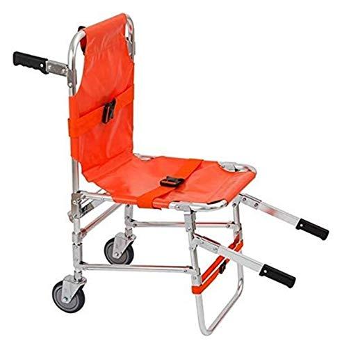 Camilla portátil for fáciles de plegar los primeros auxilios y las escaleras de transferencia de hogar y escaleras arriba y abajo de la transferencia del paciente, hasta 160 kg de aleación de aluminio