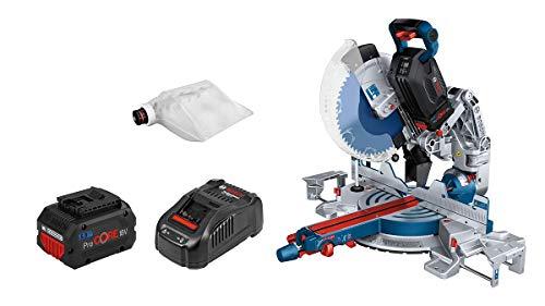 Bosch Professional BITURBO GCM 18V-305 GDC - Ingletadora telescópica a batería (18V, disco Ø 305 mm, láser, 2 baterías x 5,5Ah ProCORE18V, Connectivity, en caja)