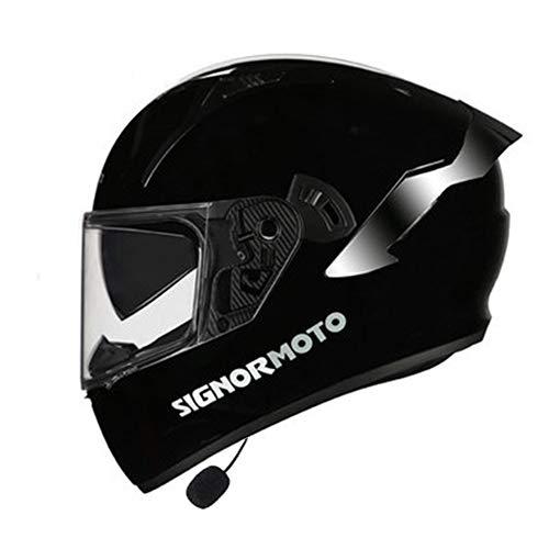 ABDOMINAL WHEEL Bluetooth Casco Integral,Casco De Moto ABS con Doble Visera, para...