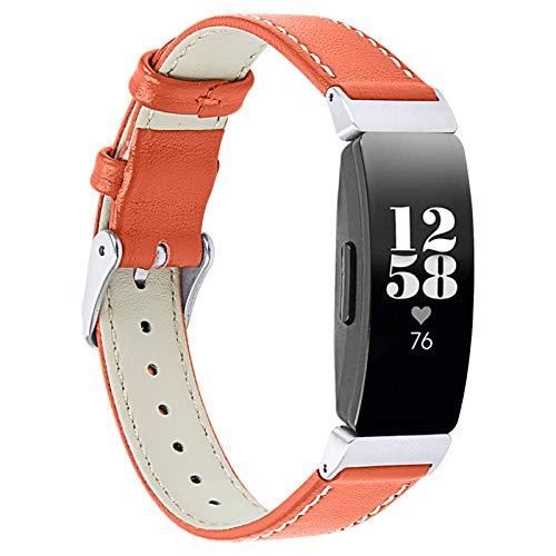 Bracelets en Cuir Inspire 2, Miya System Ltd Reemplazo de Correa de Cuero Genuino para Fitness para Mujeres y Hombres Compatible con Inspire 2 (M5)