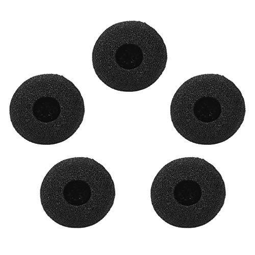 Mini Microphone Windscreens Mic Foam Covers for Lapel Lavalier Headset Microphone Black, Pack of 5pcs