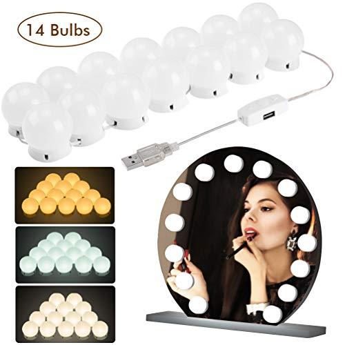 LEDGLE LED Spiegellamp Hollywood Stijl Kaptafel Spiegellampenset voor Cosmetische Spiegel, 10 LED Lampen voor Make-uplamp, Spiegellamp, Make-up