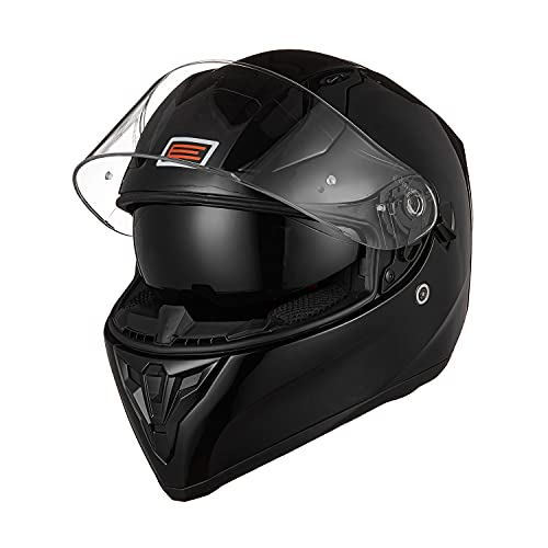 ORIGINE Casco Integral de Moto ECE Homologado con Visera (Solid Matt Black, L)