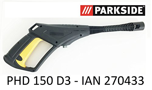 Parkside hogedrukreiniger spuitpistool PHD 150 D3 - LIDL IAN 270433 met schroefdraadaansluiting en trigger met kinderbeveiliging tot 150 bar