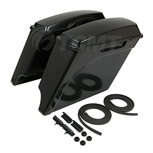 TCMT Unpainted 5' Stretched Extended Hard Saddlebags Fits For Harley Touring Models 93-13