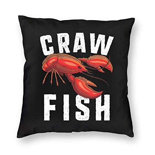 BK Creativity Pillow Covers,Crawfish Daddy Cushion Cover,Decorative Cushion Cases For Train Airplane Sleeping,45CM*45CM