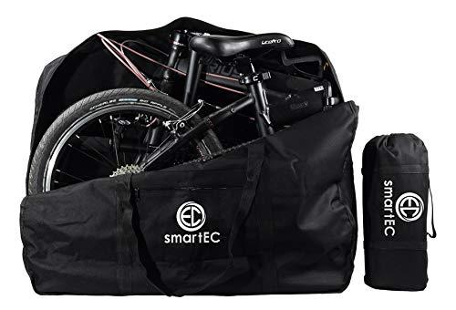 smartEC Tragetasche für 20 Zoll Falt-Räder, Klapprad, E-Bike, Sport Tasche, Transporttasche, handlich, langlebig, stabil, als Picknickunterlage einsetzbar, Schwarz