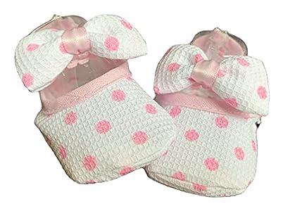 Zapatos de Niña 100% Algodón Zapatos de Princesa Primeros Pasos 0-6 meses PATUCOS FANTASIA VERANO (Blanco)
