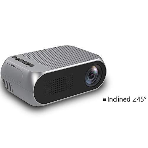 Mini proyector portátil de Bolsillo para el hogar y Entretenimiento al Aire Libre, Ayuda 1080P HDMI de Entrada Incorporado en la batería Recargable Altavoces estéreo
