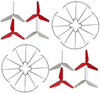 BTG 3-Blade 3-Leaf Upgrade Propellers & Prop Guards for Syma X5C-1 X5A X5C X5S X5SC X5W X5SW JJR/C H5C Skytech M68R Quadcopter
