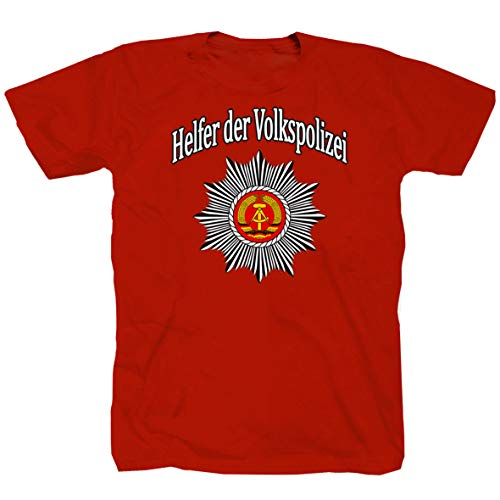 Helfer Der Volkspolizei Nostalgie DDR Ostdeutschland Ossi T-Shirt Shirt Funshirt (XL)