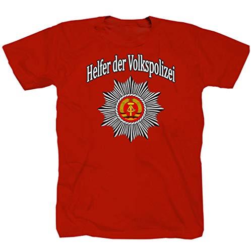 Helfer Der Volkspolizei Nostalgie DDR Ostdeutschland Ossi T-Shirt Shirt Funshirt (S)
