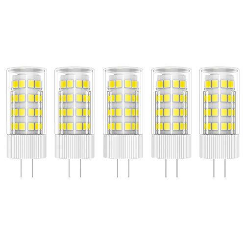 5X G4 Bombilla de LED 5W Bombilla Lámpara LED 51 SMD 2835LEDs Blanco Frío 6000K Iluminación LED Super Brillante 500LM LED Bulb AC/DC12V