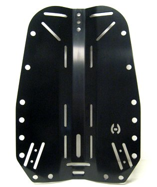 Hollis Backplate Aluminium or Stainless Steel Options for Harness Systems, Aluminium