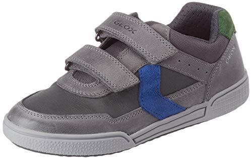 Geox Jungen J Poseido Boy A Sneaker, Grau (Grey/Royal), 30 EU
