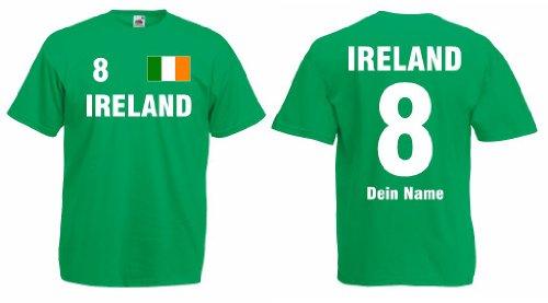 Irland/Ireland Trikot mit Wunschname und Wunschnummer von S - 3XL|g-m