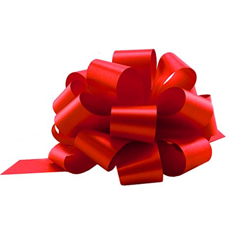 """Red Christmas Gift Pull Bows - 5"""" Wide, Set of 10, Valentine's Day, Wreath, Swag, Garland, Gift Basket, Presents, Birthday, Fundraiser, Classroom, Office, Decoration"""