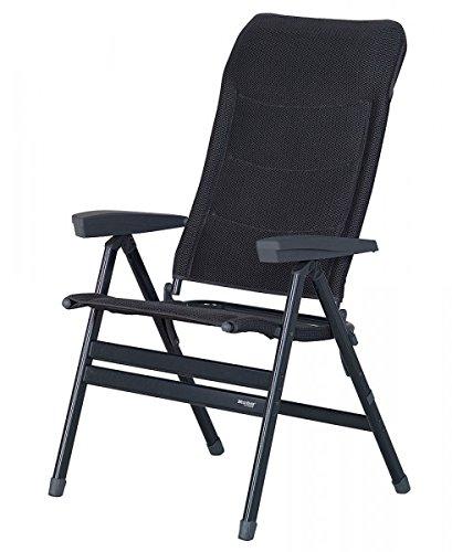 Silla plegable–Silla de camping–Stabielo–de aluminio silla–6,4–Kilo Fácil–Antracita Grey–200kilos Aguanta–con respaldo ergonómico moldeado–Distribución–Holly...
