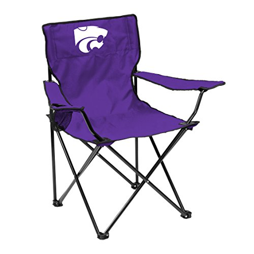 Logo Brands NCAA Kansas State Wildcats Unisex Adult Quad Chair with Single Cup Holder, Purple, One Size
