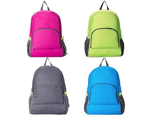 moaeuro deportes al aire libre Nylon impermeable plegable mochila senderismo bolsa Camping mochila Rad, hot pink