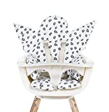 Childhome CCASCLEO - Cojín reductor universal compatible con trona, hamaca, asiento de coche, cochecito, aberturas para pasar, arnés de seguridad, 100% algodón, diseño de ángel Gold Leopard