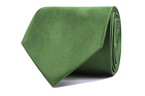 Sologemelos - Cravate Unie - Vert Clair 100% soie naturelle - Hommes - Taille Unique - Confection artesanale Made In Italy