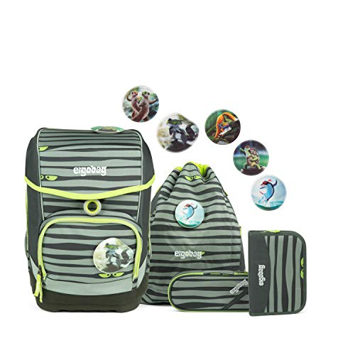 ERGOBAG Super NinBear Kinder-Rucksack, 40 cm, 19 Liter, Green Eyes
