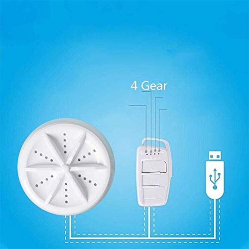 Surfilter Mini Faltwaschmaschine, kleine tragbare Faltwaschmaschine, Waschmaschine, Ultraschall-Turbowaschanlage, Wandmontage (Farbe: Drei in Eins (kein Klapplauf))