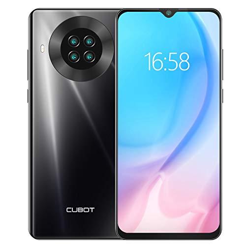 CUBOT Note 20 Smartphone ohne Vertrag 6,5 Zoll 4G LTE Smartphone 64GB ROM 4200mAh Akku, 20MP Kamera, Dual SIM Handy Android 10.0 NFC Face ID(Schwarz)