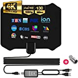 [Best of 2021] Digital Indoor Tv Antenna - Smart Amplified Rabbit Ears Antenna, 16 Feet Cable, Crystal Clear 1080P 4K Support, Powerful Amplifier Signal Booster, 270 Miles Range, Free Channels