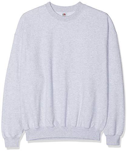Fruit of the Loom Herren Set In Sweat Sweatshirt, Grey (Heather Grey), Medium