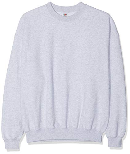 Fruit of the Loom Men's Set-In Classic Sweater, Heather Grey, Large