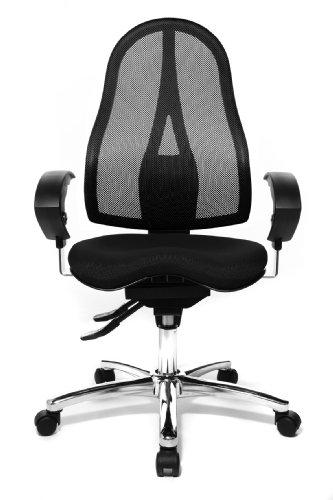 Topstar ST19UG20 Sitness 15, ergonomischer Bürostuhl, Schreibtischstuhl, inkl. höhenverstellbare Armlehnen, Bezugsstoff schwarz