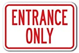Vivityobert - Señal de Metal con Texto en inglés Entrance Only, de Aluminio, con Texto en inglés Private Property Signs, 30 x 45 cm