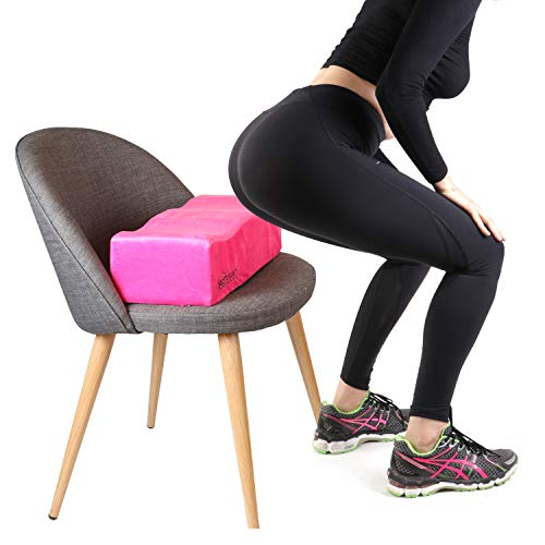 Brazilian Butt Lift Pillow – Dr. Approved for Post Surgery Recovery Seat – BBL Foam Pillow + Cover Bag Firm Support Cushion Butt Support Technology - Pink