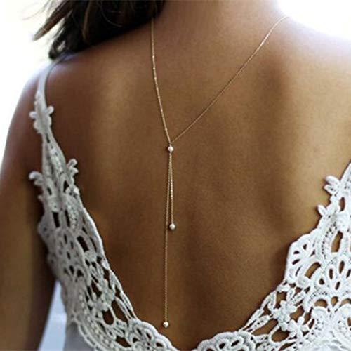 Yean Pearl Pendentif Collier Toile de Fond Colliers Chaîne Bijoux en Or pour femmes et filles