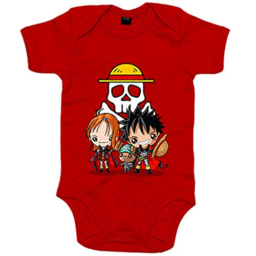 Body bebé Chibi Kawaii Crossover One Piece Capitan Harlock parodia - Amarillo, 12-18 meses
